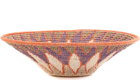 African Basket - Swaziland - Sisal Bowl -  9.25 Inches Across - #58956