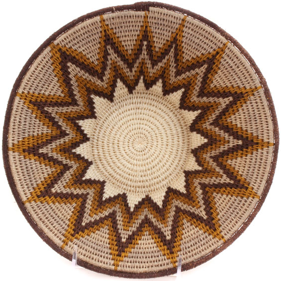 African Basket - Swaziland - Sisal Bowl -  9.75 Inches Across - #61512