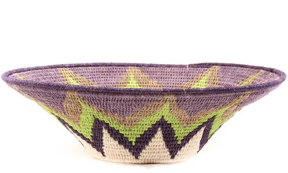 African Basket - Swaziland - Sisal Bowl -  9.75 Inches Across - #61514