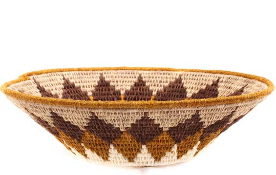 African Basket - Swaziland - Sisal Bowl -  8 Inches Across - #61522
