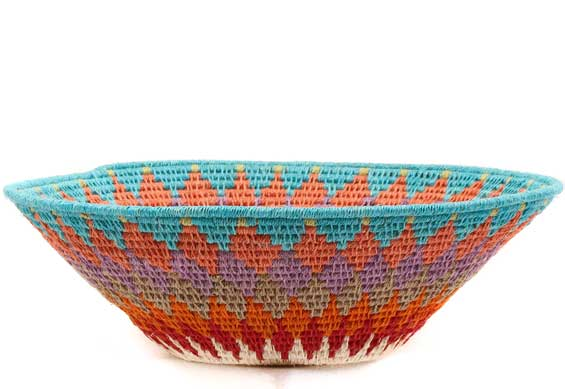 African Basket - Swaziland - Sisal Bowl -  8 Inches Across - #61526