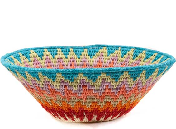 African Basket - Swaziland - Sisal Bowl -  6.5 Inches Across - #61572