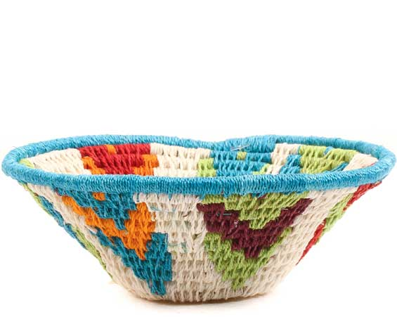 African Basket - Swaziland - Sisal Bowl -  4.25 Inches Across - #65620