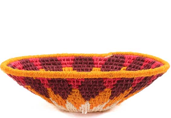 African Basket - Swaziland - Sisal Bowl -  4.5 Inches Across - #65713