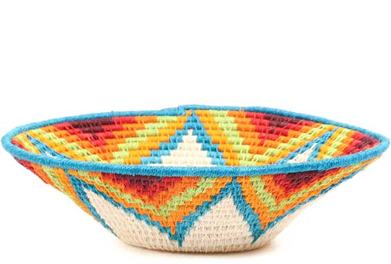 African Basket - Swaziland - Sisal Bowl -  7 Inches Across - #71573