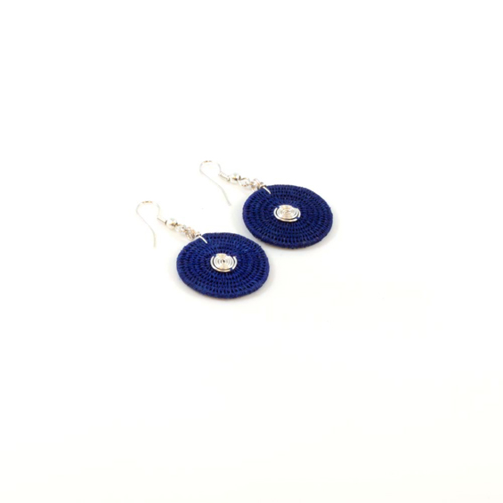 Large Disk Spiral Earrings<br>SJE02BB