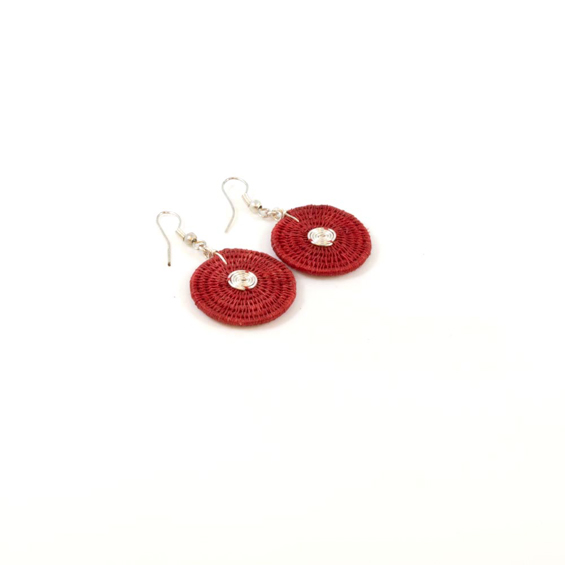 Large Disk Spiral Earrings<br>SJE02BR