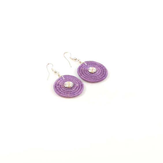 Large Disk Spiral Earrings<br>SJE02LL