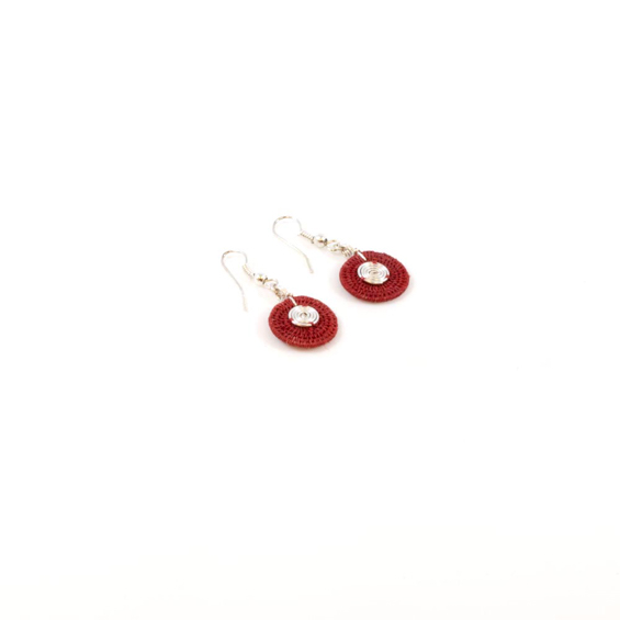 Small Disk Spiral Earrings<br>SJE03BR