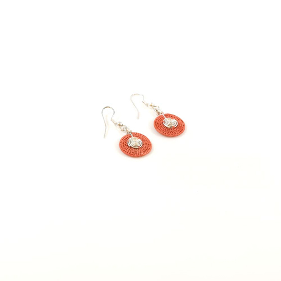 Small Disk Spiral Earrings<br>SJE03CL