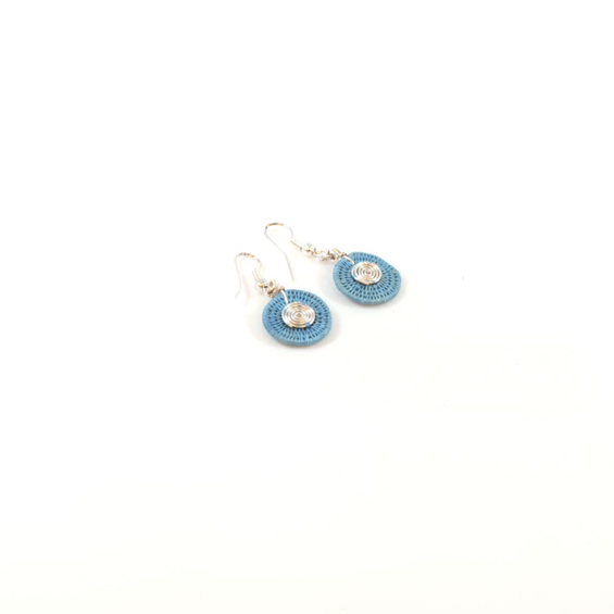 Small Disk Spiral Earrings<br>SJE03DM