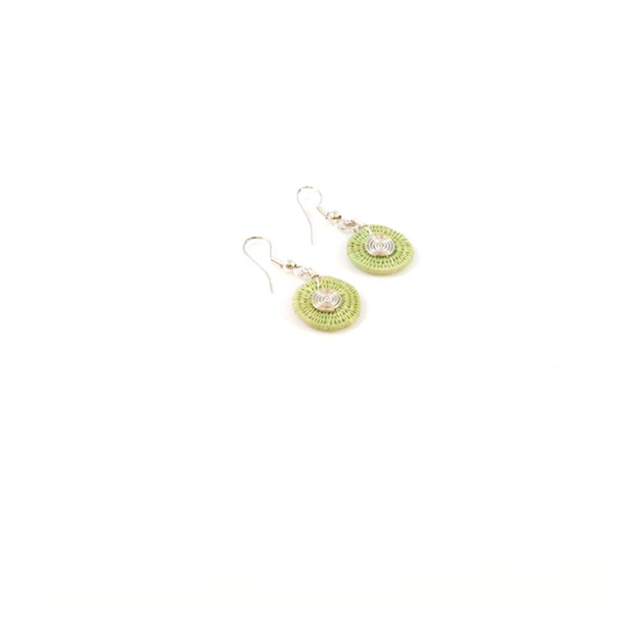 Small Disk Spiral Earrings<br>SJE03FN