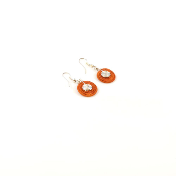 Small Disk Spiral Earrings<br>SJE03OR