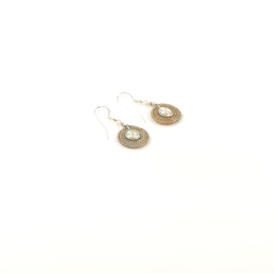 Small Disk Spiral Earrings<br>SJE03OY