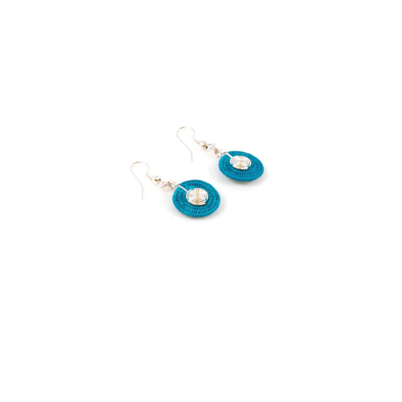 Small Disk Spiral Earrings<br>SJE03TQ