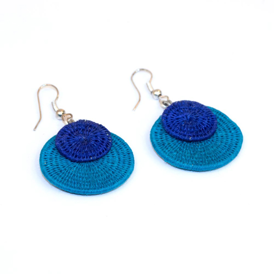 Large Eclipsing Disk Earrings<br>SJE06OB