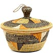 African Basket - Uganda - Virunga Wishing Basket -  7.25 Inches Across - #52709