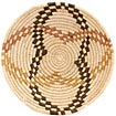 African Basket - Uganda - Virunga Shallow Bowl -  7 Inches Across - #57417