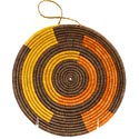 African Basket - Uganda - Virunga Shallow Bowl -  7 Inches Across - #57420