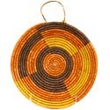 African Basket - Uganda - Virunga Shallow Bowl -  7 Inches Across - #57421