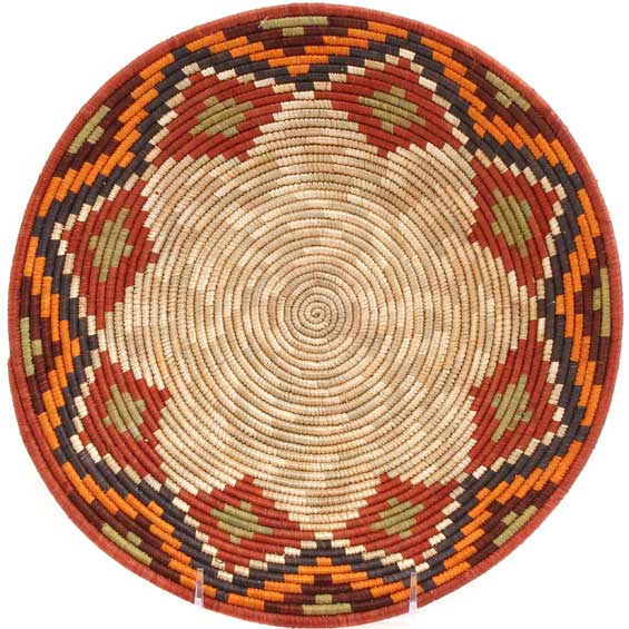 African Basket - Uganda - Rwenzori Bowl - 10.5 Inches Across - #65759