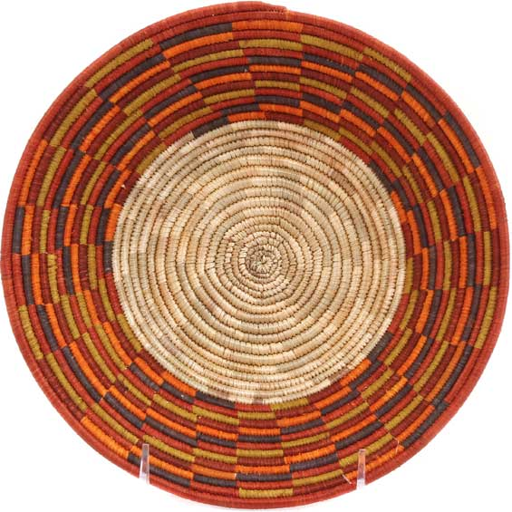 African Basket - Uganda - Rwenzori Bowl -  8.75 Inches Across - #65785