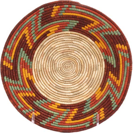 African Basket - Uganda - Rwenzori Bowl -  7.5 Inches Across - #65808