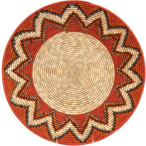 African Basket - Uganda - Rwenzori Bowl - 15 Inches Across - #67791