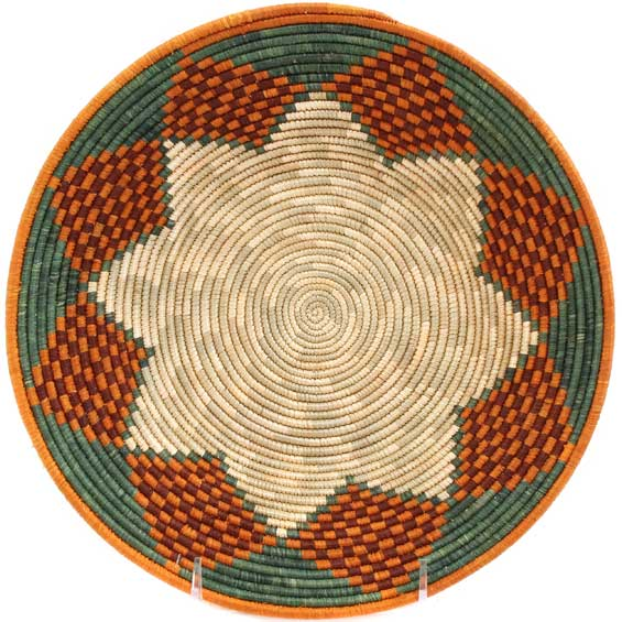 African Basket - Uganda - Rwenzori Bowl - 10 Inches Across - #67803