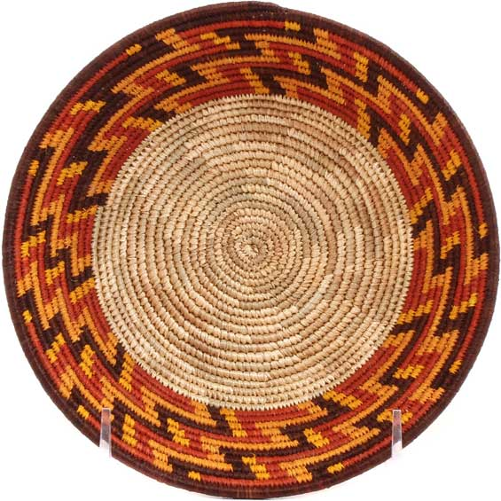 African Basket - Uganda - Rwenzori Bowl -  6.25 Inches Across - #67819