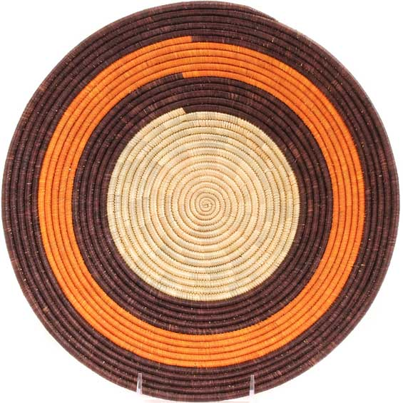 African Basket - Uganda - Rwenzori Bowl - 13 Inches Across - #67826