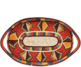 African Basket - Uganda - Rwenzori Tray - 17.25 Inches Across - #70350