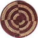 African Basket - Uganda - Njulu Open Weave Bowl - 12 Inches Across - #UR4312