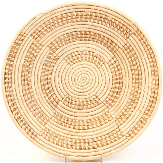 African Basket - Uganda - Njulu Open Weave Bowl - 16 Inches Across - #UR4616
