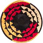 African Basket - Uganda - Banded Weave Bowl - 14 Inches Across - #UR6714