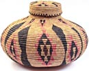 African Basket - Zulu Ilala Palm - Isichumo - 12.5 Inches Tall - #31197