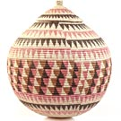 African Basket - Zulu Ilala Palm - Ukhamba - 18 Inches Tall - #31415