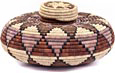 African Basket - Zulu Ilala Palm - Isichumo -  6.5 Inches Tall - #35010