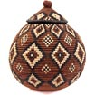 African Basket - Zulu Ilala Palm - Ukhamba - 11.25 Inches Tall - #39235