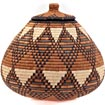 African Basket - Zulu Ilala Palm - Ukhamba - 10.25 Inches Tall - #39245