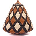 African Basket - Zulu Ilala Palm - Ukhamba - 15.75 Inches Tall - #44200