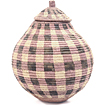 African Basket - Zulu Ilala Palm - Ukhamba - 11.75 Inches Tall - #46836