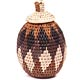 African Basket - Zulu Ilala Palm - Woven Herb Basket -  6.5 Inches Tall - #49309
