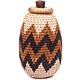 African Basket - Zulu Ilala Palm - Woven Herb Basket -  7 Inches Tall - #49331