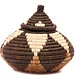 African Basket - Zulu Ilala Palm - Ukhamba -  5.25 Inches Tall - #49737