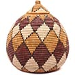 African Basket - Zulu Ilala Palm - Ukhamba - 13 Inches Tall - #50041