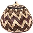 African Basket - Zulu Ilala Palm - Ukhamba - 11.25 Inches Tall - #50042