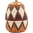 African Basket - Zulu Ilala Palm - Ukhamba - 13.25 Inches Tall - #53811
