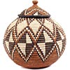 African Basket - Zulu Ilala Palm - Ukhamba - 10.25 Inches Tall - #53817