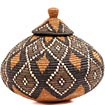 African Basket - Zulu Ilala Palm - Ukhamba - 10.25 Inches Tall - #53830